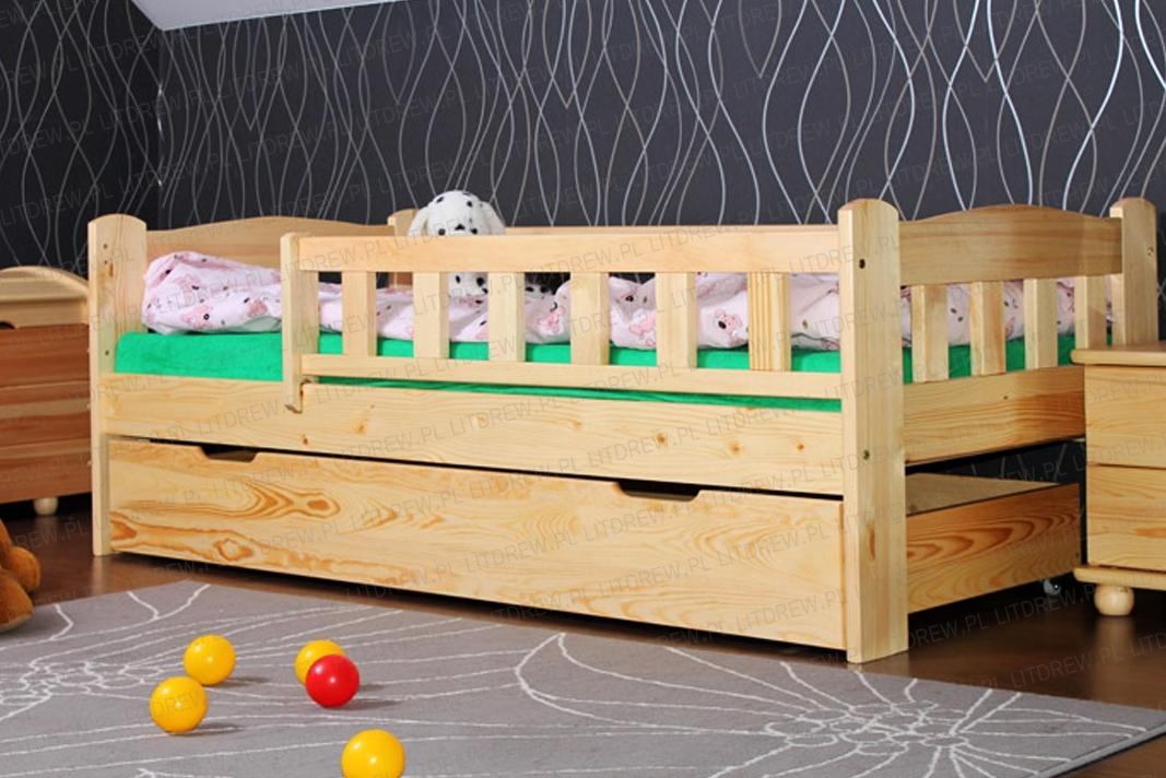 łóżko Dziecięce W 80x180 Sosna