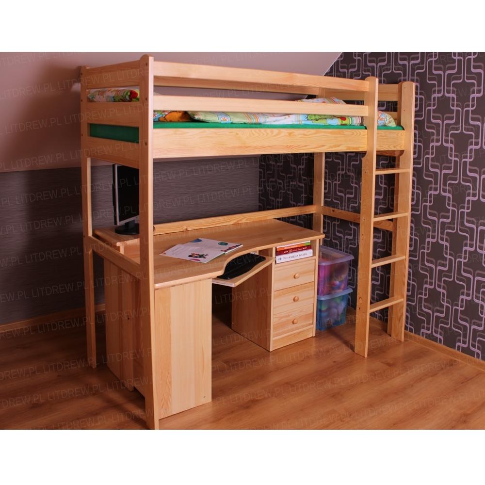 łóżko Dziecięce Model Antresola 80x180 Sosna
