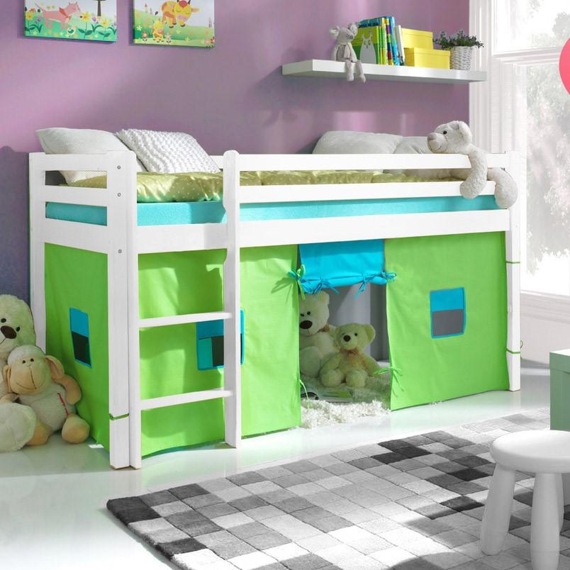 łóżko Mała Antresola 80x180 Biały