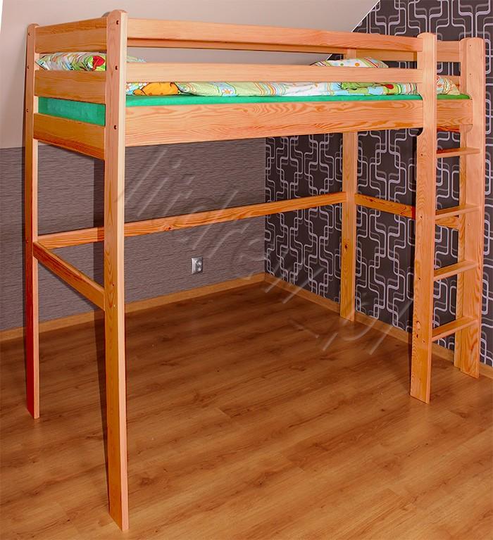 łóżko Dziecięce Model Antresola 80x180 Olcha